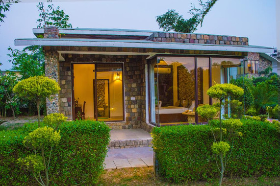 Cottage Front, corbett national park hotel