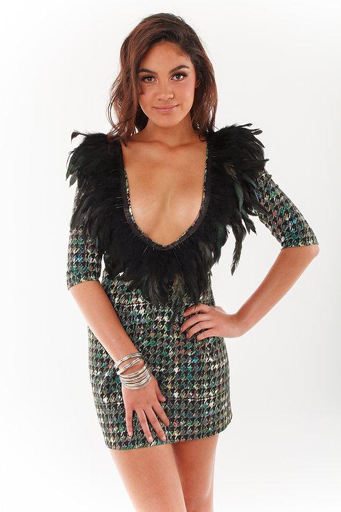 Fierce Feather Short Dress