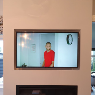 TV and Gas Fire Recessed