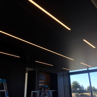 Reccesed LED strip lighting in ceiling