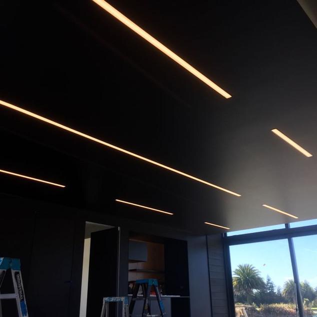 Reccesed LED strip lighting in ceiling