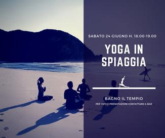 Yoga in riva al mare- 24 Giugno Ansedonia (Gr)