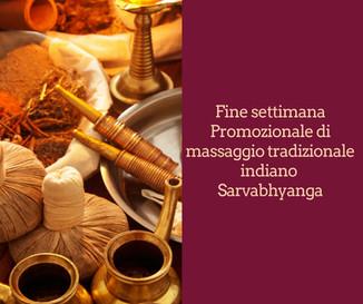 Fine settimana Promozionale di Sarvabhyanga