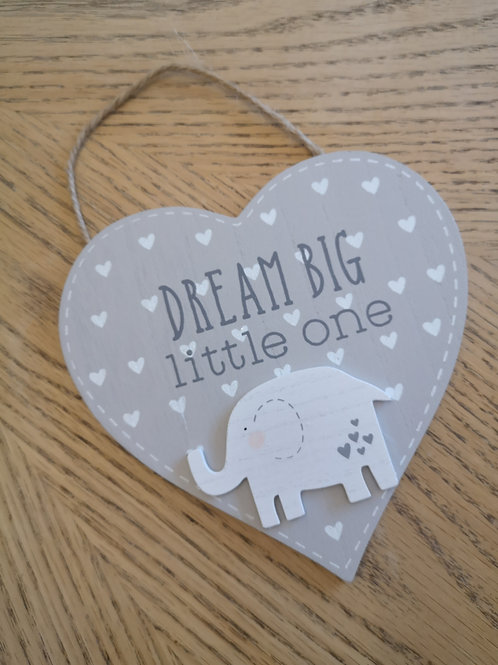 Petit Cheri Elephant Dream Big Little One Hanging Sign