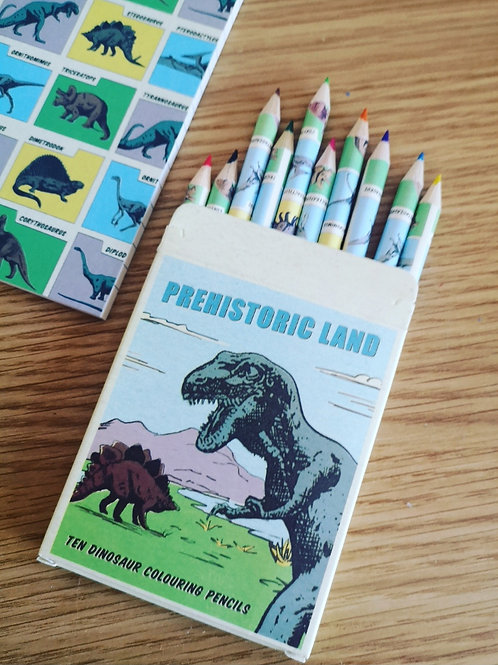 Prehistoric Land Coloured Pencil Crayons