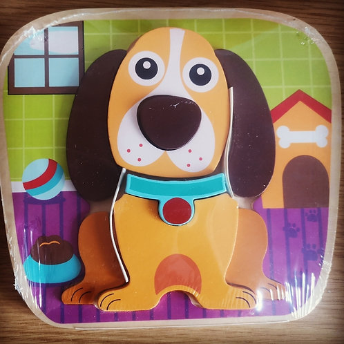 Jumini Wooden Raised Dog Puzzle