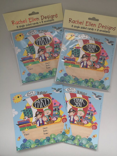 Rachel Ellen Designs 'Pirate' Party Invites and Thank You Cards