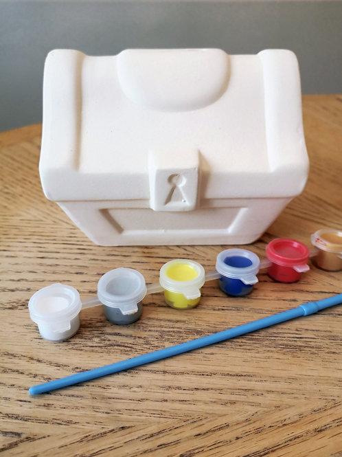 Paint Your Own Treasure Chest Ceramic Money Box