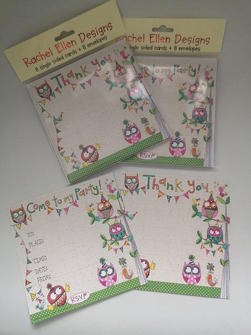 Rachel Ellen Designs Party Invite & Thank You Cards