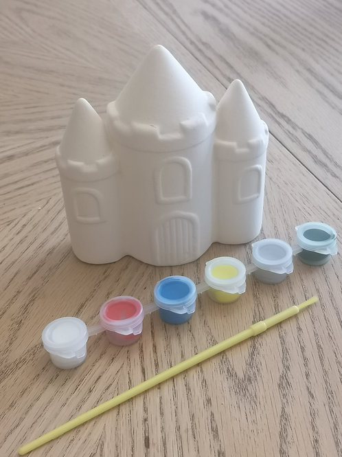 Paint Your Own Castle Ceramic Money Box