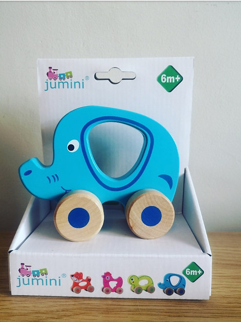 Jumini Wooden Push Along Elephant