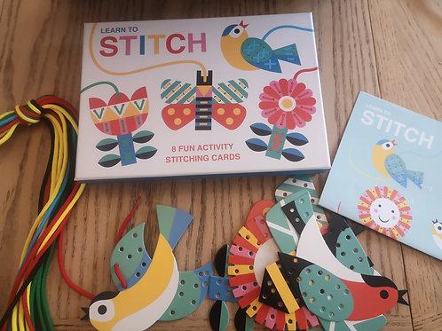Cardboard Learn to Stitch Activity