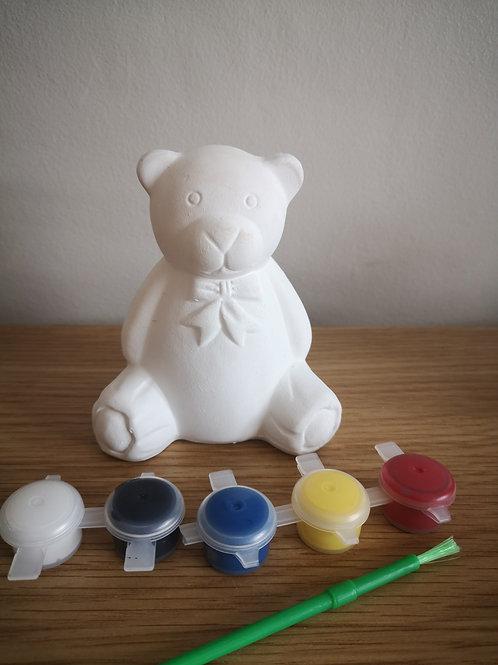 Teddy Bear (Paint Your Own) Ceramic Money Box