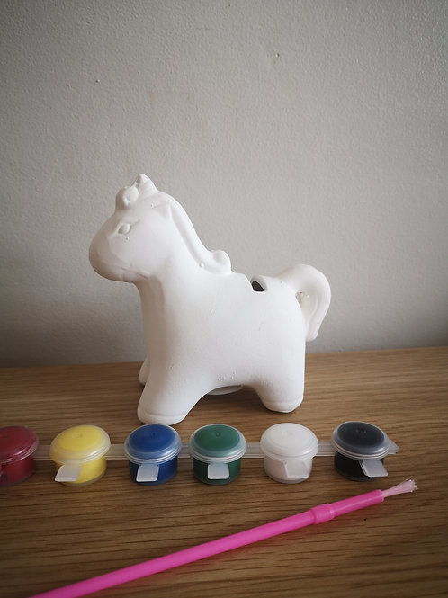 Unicorn (Paint Your Own) Ceramic Money Box