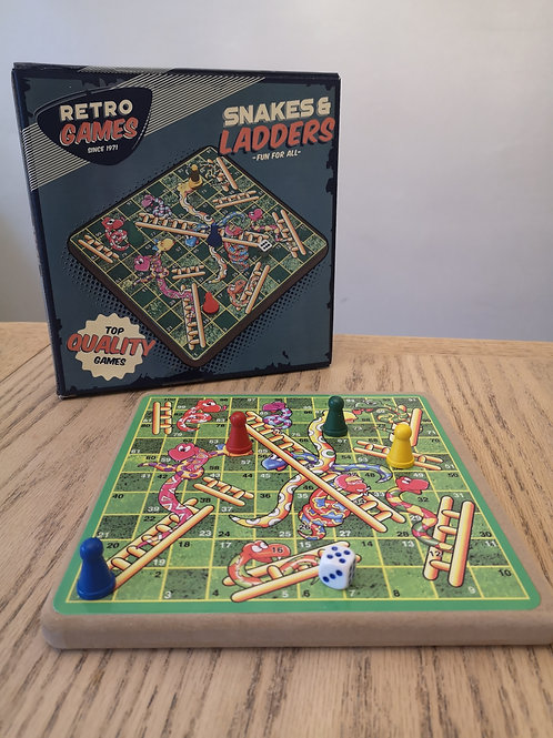 Retro Snakes & Ladders