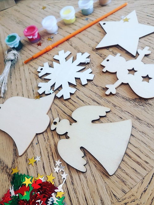 Paint your own Christmas Decorations - Snowman Set