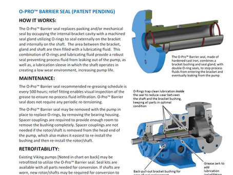 Viking releases O-PRO Seal for less costly sealing option.