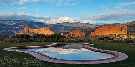 Reflections of the Gods, Garden of the Gods, Pikes Peak, Colorado Springs, Colorado