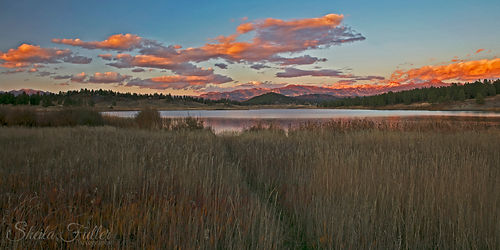 Pagosa Springs, Echo Resevior, Sunset, Clouds, Colorado