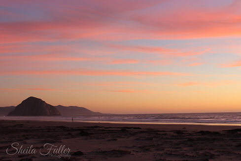 Birthday Prayer, Morro Rock, Sunset, California
