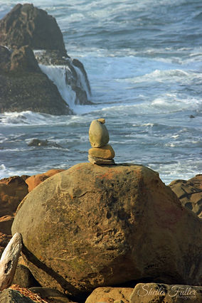 The Point, Ocean, Serenity, California,Cairn