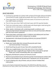 Coronavirus Info Sheet 3