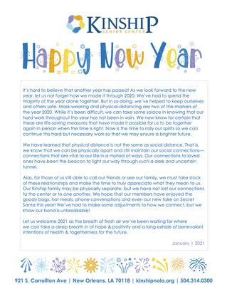 January Newsletter 2021
