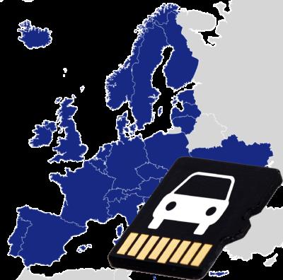 Navigations-SD-Karte EUROPA 12 Monate