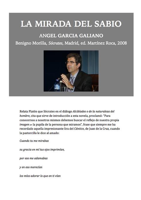 La Mirada del Sabio, crítica de Angel García Galiano de la novela Sócrates