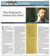 Entrevista en La Contra de La Vanguardia
