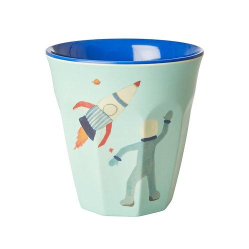 כוס מלמין טוטון בהדפס חלל RICE