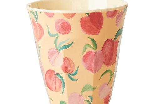 כוס מלמין טוטון בהדפס אפרסקים RICE
