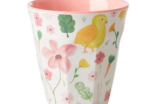 כוס מלמין טוטון בהדפס חיות רקע מנטה RICE