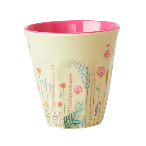 כוס מלמין טוטון בהדפס פרחי קיץ RICE