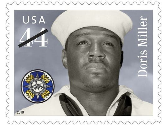Postage stamp commemorating Dorie Miller