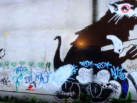 Banksy artwork on the move at Art'Otel, Hoxton