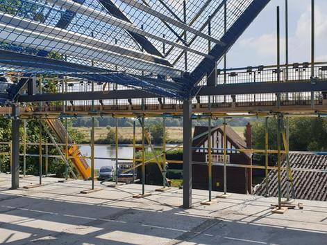 Great progress at Shiplake College Boathouse