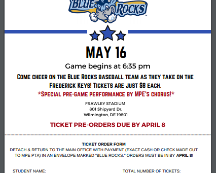 Save the date: MPE Night at the Blue Rocks