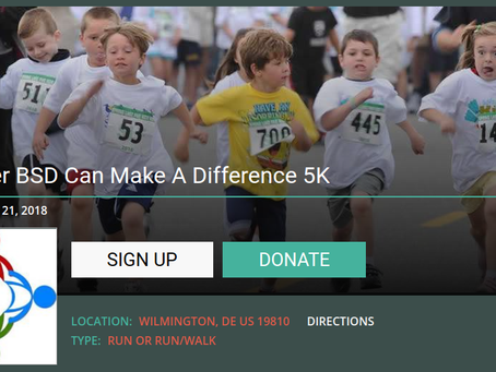 Join the BSD Can Make a Difference 5K on 10/21