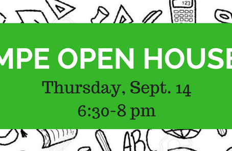 MPE Open House, 9/14 from 6:30-8 pm