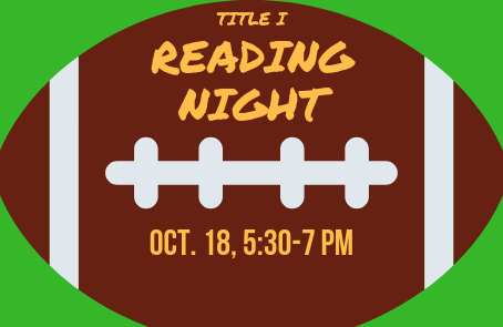 Reading for the Win: Get ready for Title I Reading Night, Oct. 18!