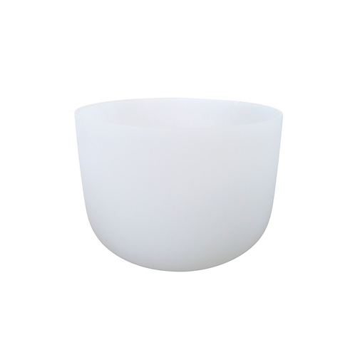 """10"""" White Frosted Crystal Singing Bowl"""
