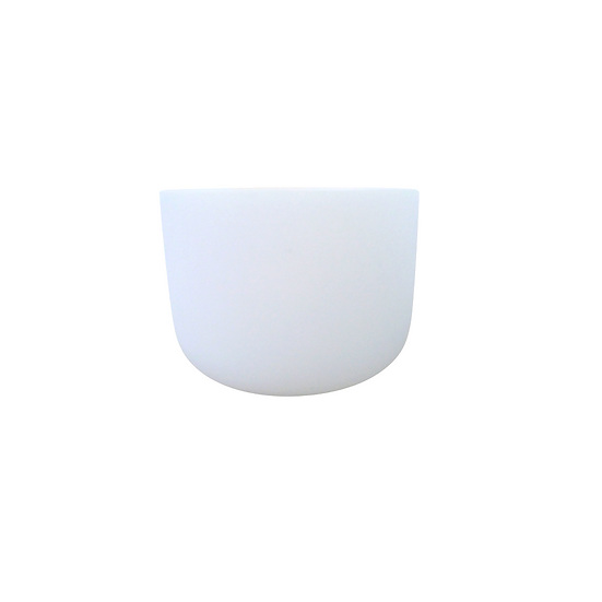 "8"" White Frosted 432 Hz Crystal Singing Bowl"