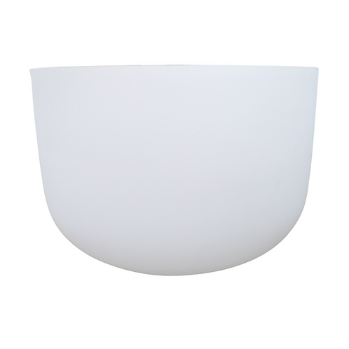 "14"" White Frosted Crystal Singing Bowl"