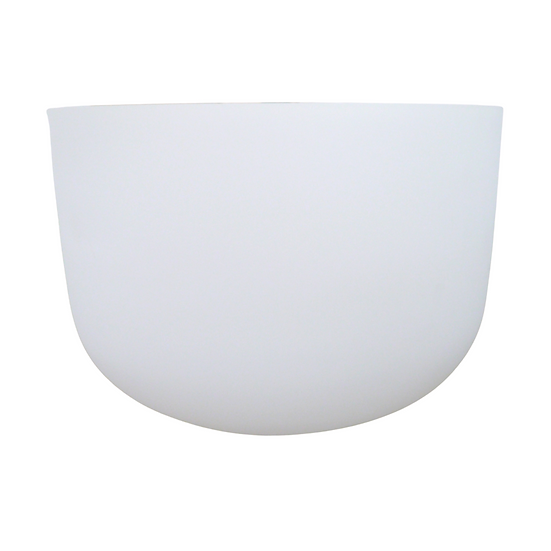 "14"" White Frosted 432 Hz Crystal Singing Bowl"