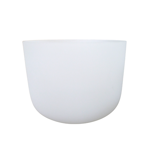 """11"""" White Frosted Crystal Singing Bowl"""