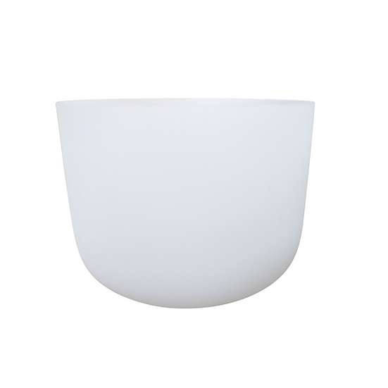 "11"" White Frosted 432 Hz Crystal Singing Bowl"