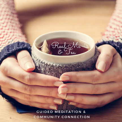 Real Me & Tea Online Live Group Crystal Singing Bowl Sound Therapy Meditation & Community Connection for Women