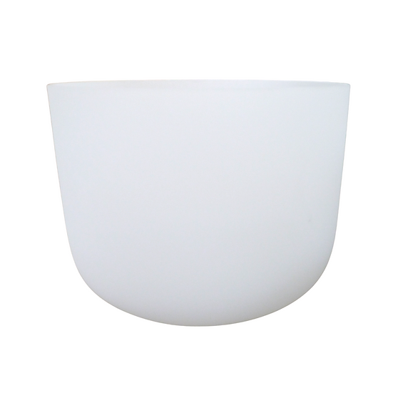 "13"" White Frosted 432 Hz Crystal Singing Bowl"