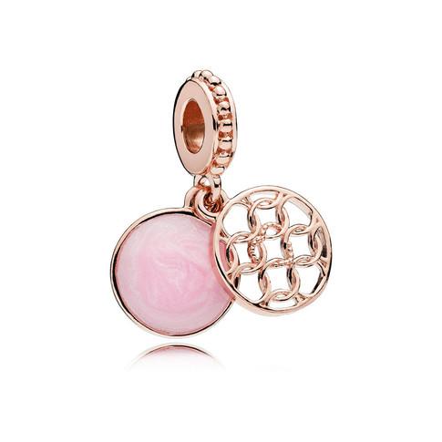 Pattern of Love Dangle Charm, PANDORA Rose™ & Pink Enamel
